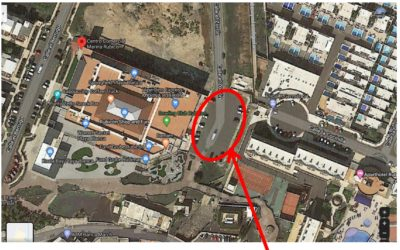 Esta es la localización de las guaguas que saldrán desde la meta a Costa Teguise